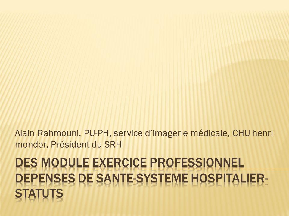 Alain Rahmouni, PU-PH, service d'imagerie médicale, CHU henri mondor, Président du SRH