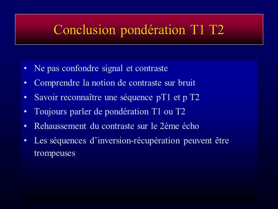 Conclusion pondération T1 T2