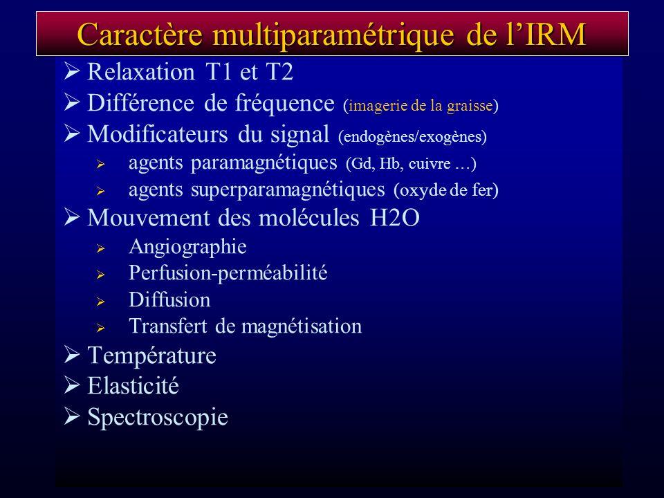 Caractère multiparamétrique de l'IRM