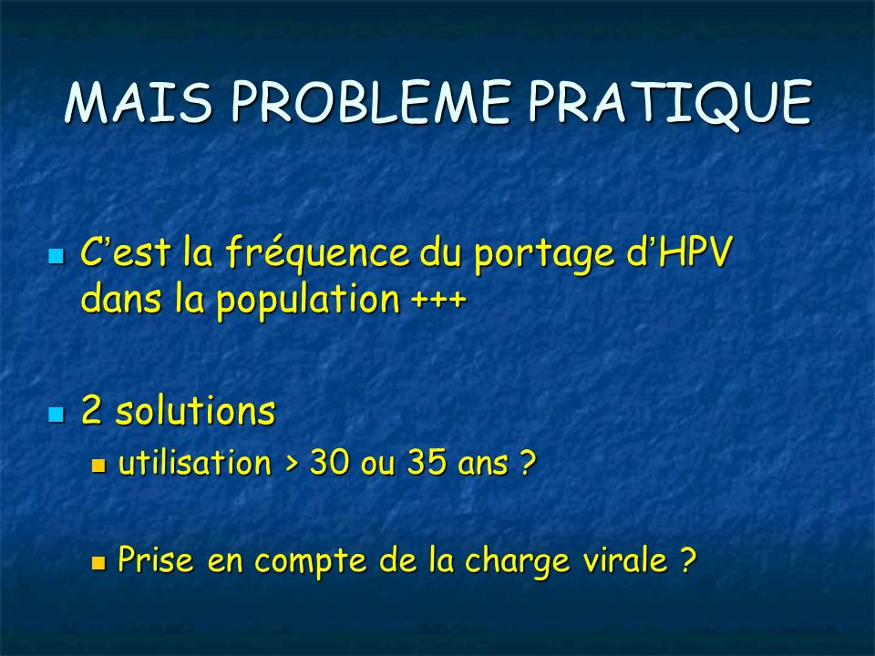 MAIS PROBLEME PRATIQUE