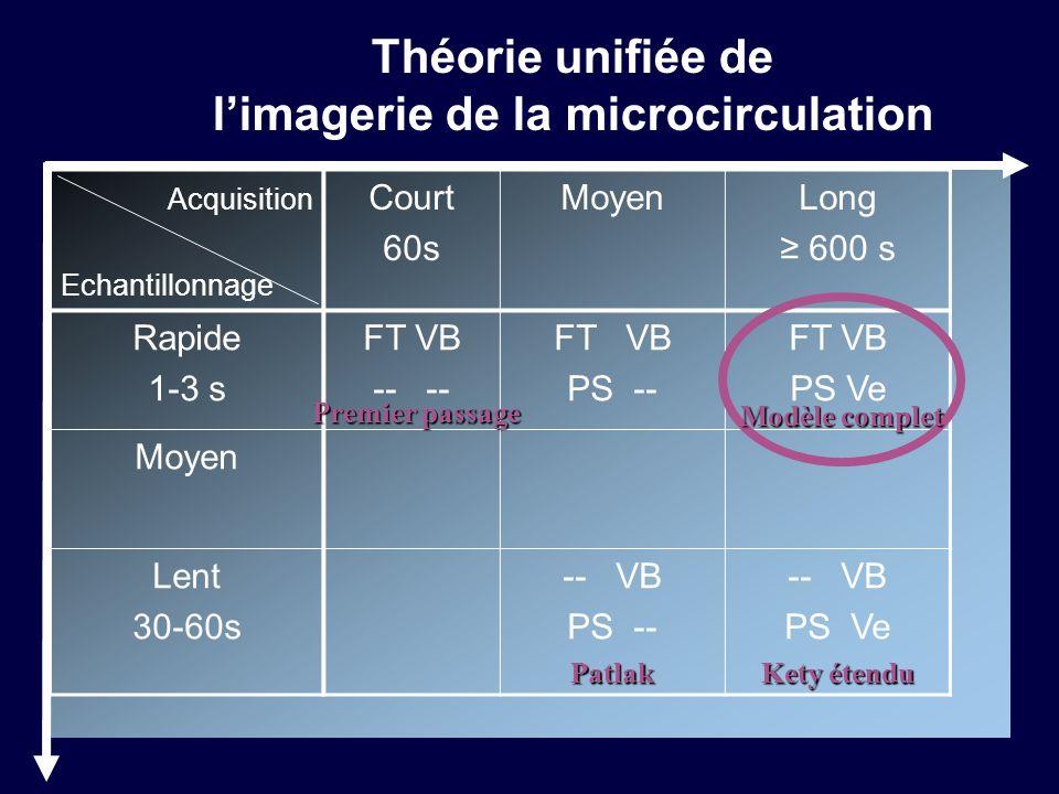 Théorie unifiée de l'imagerie de la microcirculation
