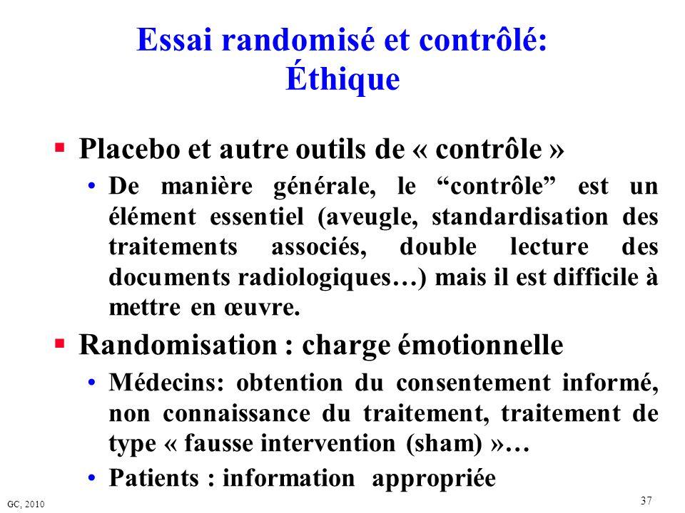 Essai randomisé et contrôlé: Éthique
