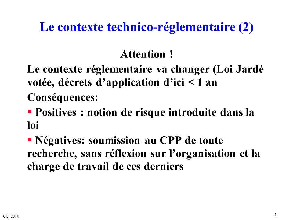 Le contexte technico-réglementaire (2)