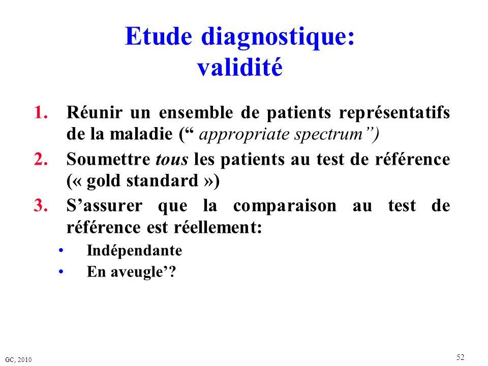 Etude diagnostique: validité