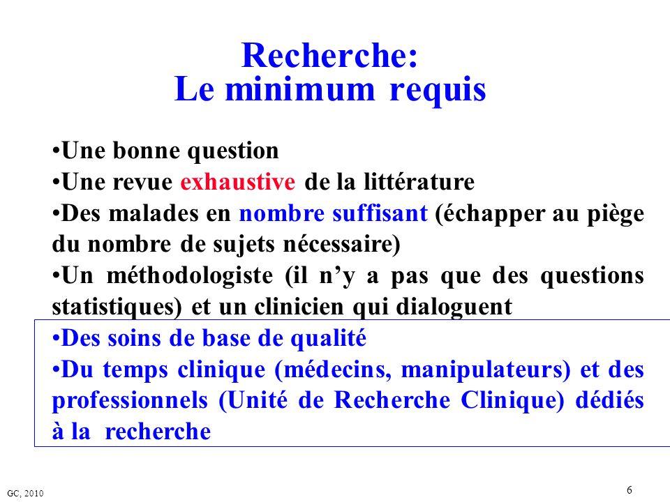 Recherche: Le minimum requis