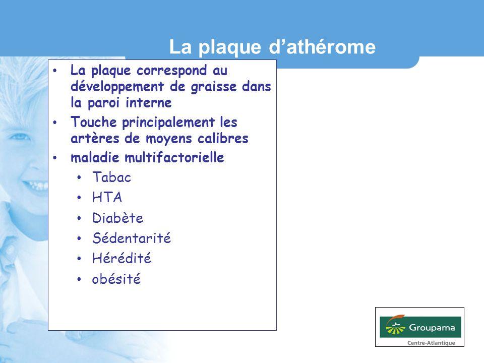 La plaque d'athérome Tabac HTA Diabète Sédentarité Hérédité obésité