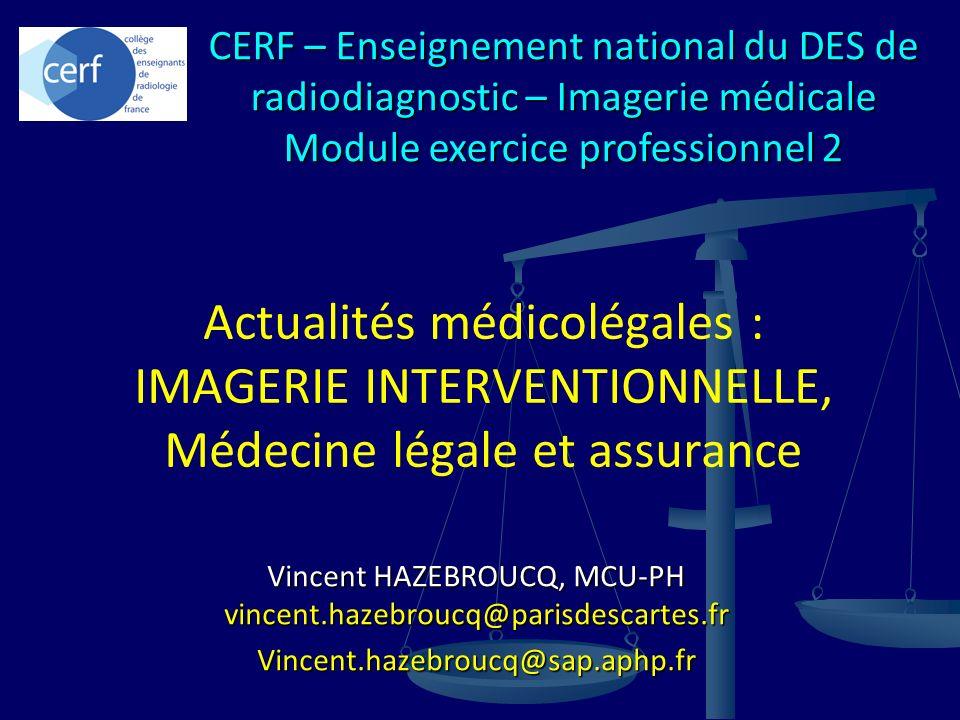 CERF – Enseignement national du DES de radiodiagnostic – Imagerie médicale