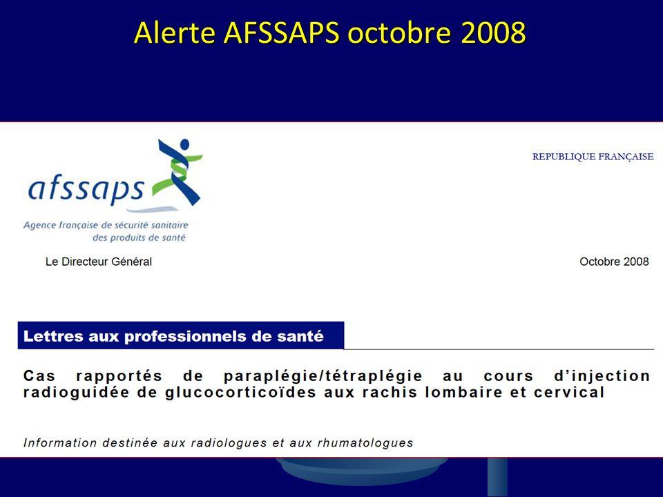 Alerte AFSSAPS octobre 2008