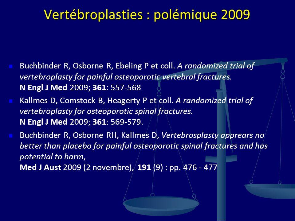Vertébroplasties : polémique 2009