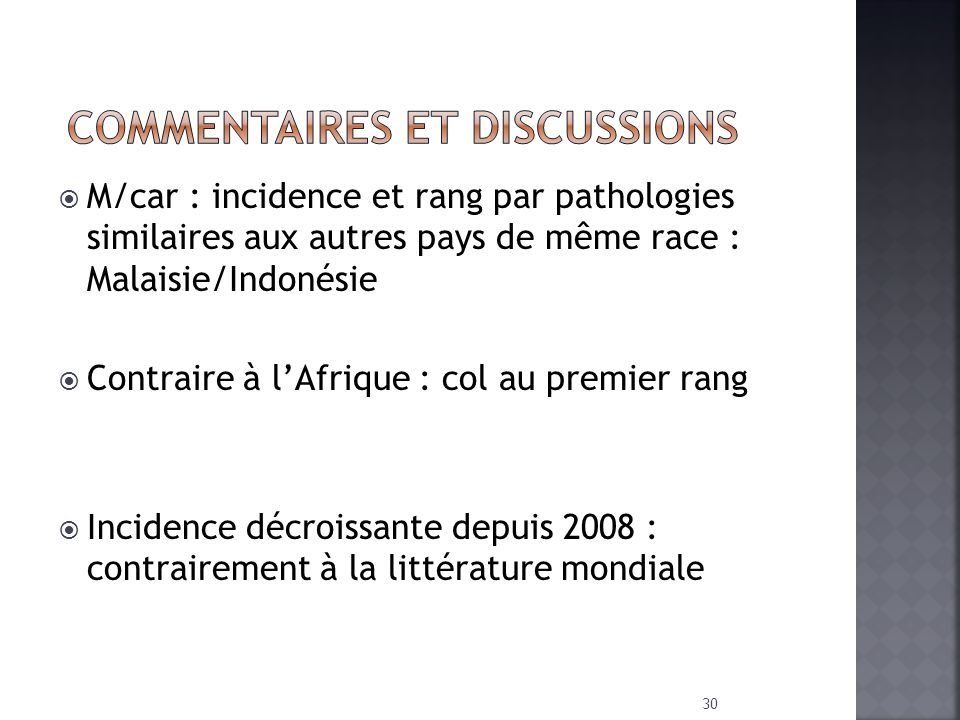COMMENTAIRES ET DISCUSSIONS