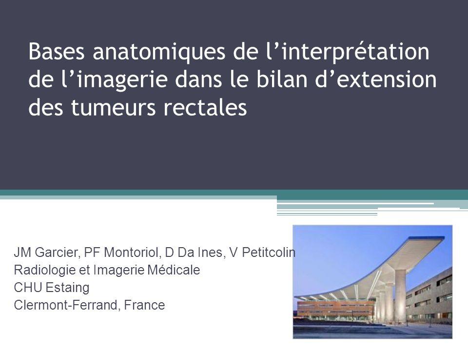 Bases anatomiques de l'interprétation de l'imagerie dans le bilan d'extension des tumeurs rectales