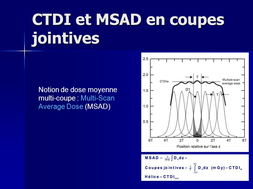 CTDI et MSAD en coupes jointives
