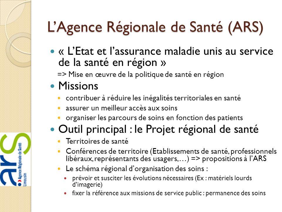 L'Agence Régionale de Santé (ARS)