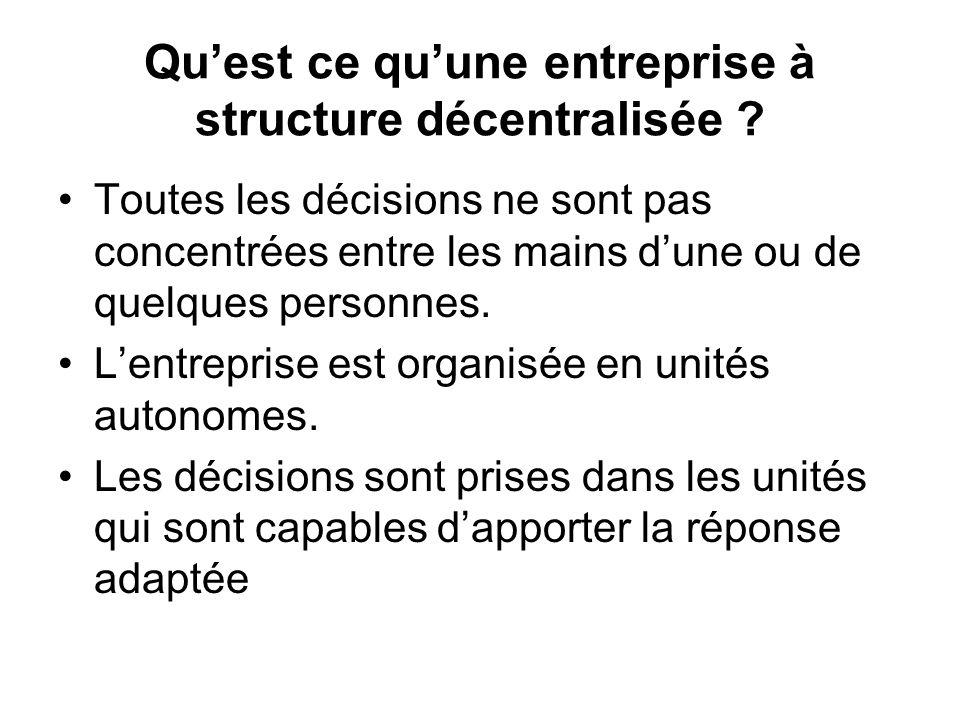Qu'est ce qu'une entreprise à structure décentralisée