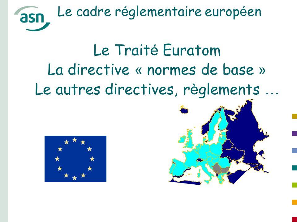 Le cadre réglementaire européen