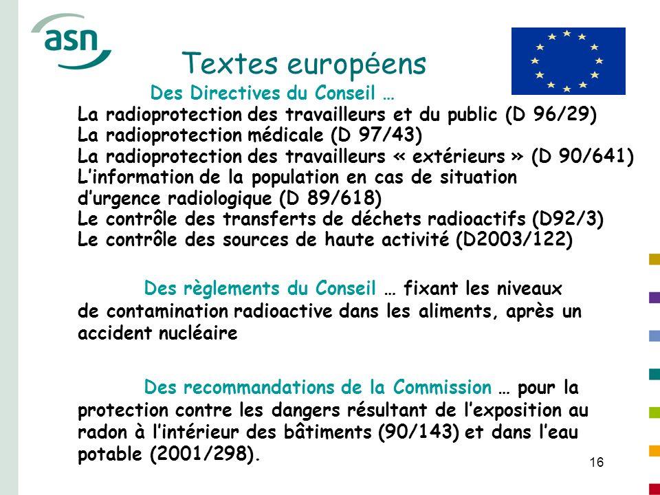 Textes européens Des Directives du Conseil …