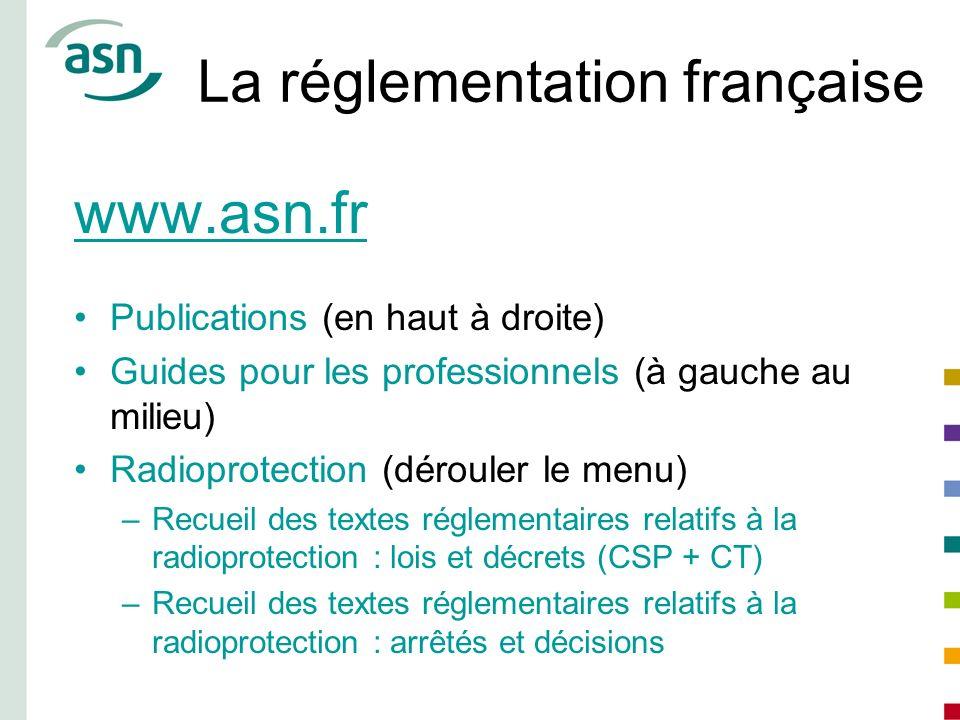 La réglementation française