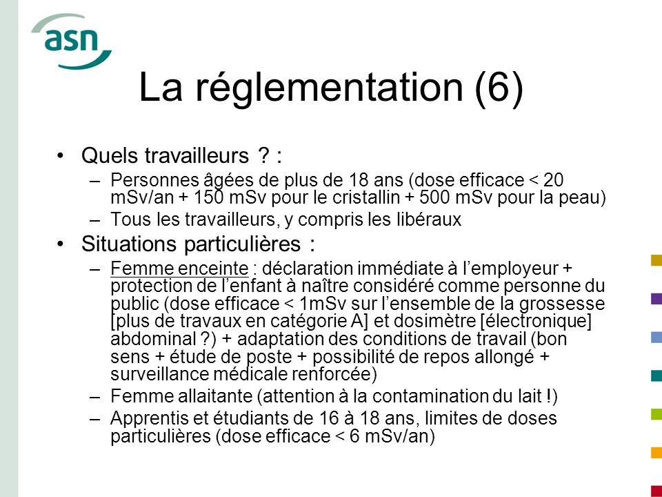 La réglementation (6) Quels travailleurs :