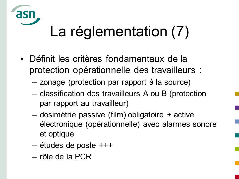La réglementation (7) Définit les critères fondamentaux de la protection opérationnelle des travailleurs :