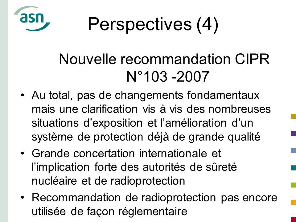 Nouvelle recommandation CIPR N°103 -2007