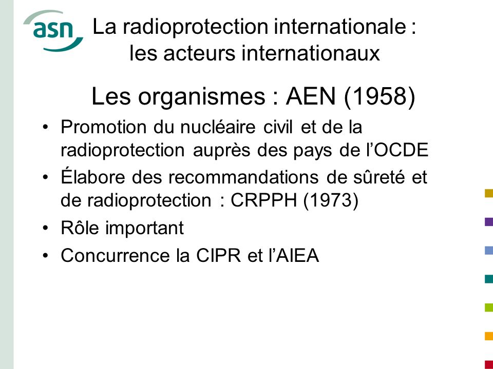 La radioprotection internationale : les acteurs internationaux