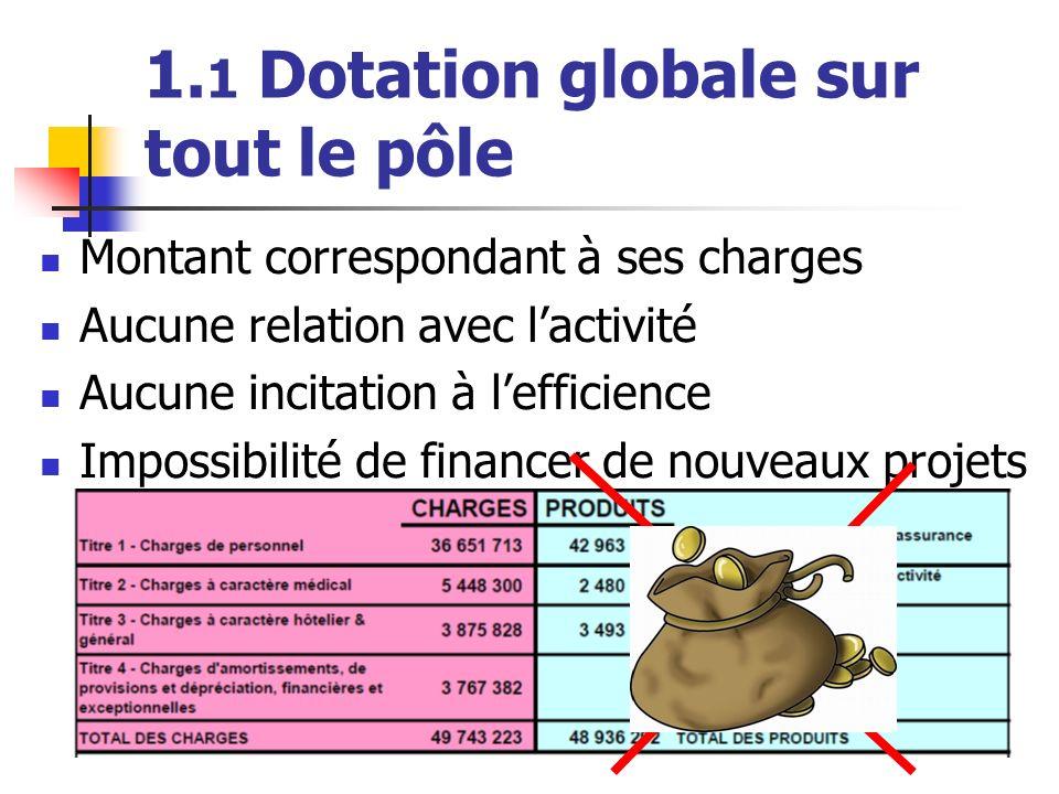 1.1 Dotation globale sur tout le pôle