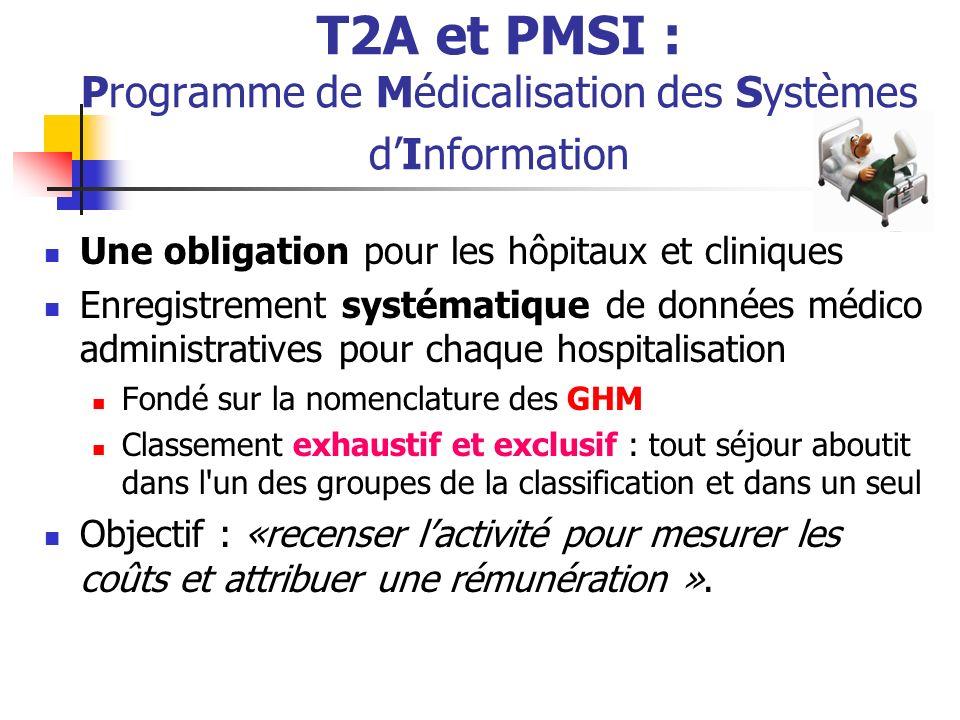 T2A et PMSI : Programme de Médicalisation des Systèmes d'Information