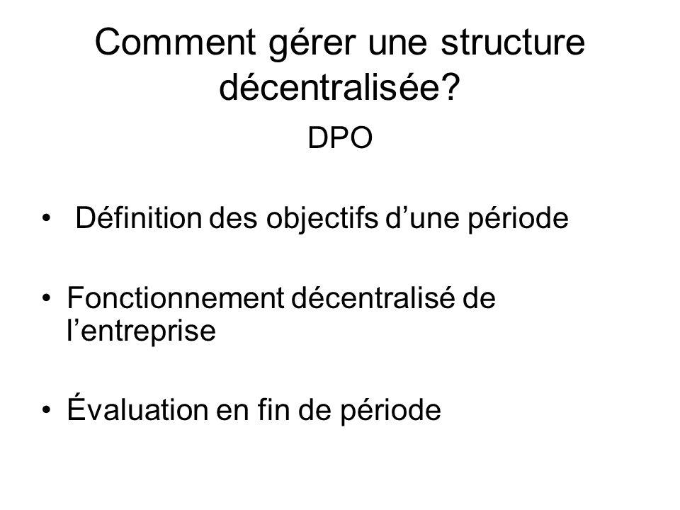 Comment gérer une structure décentralisée