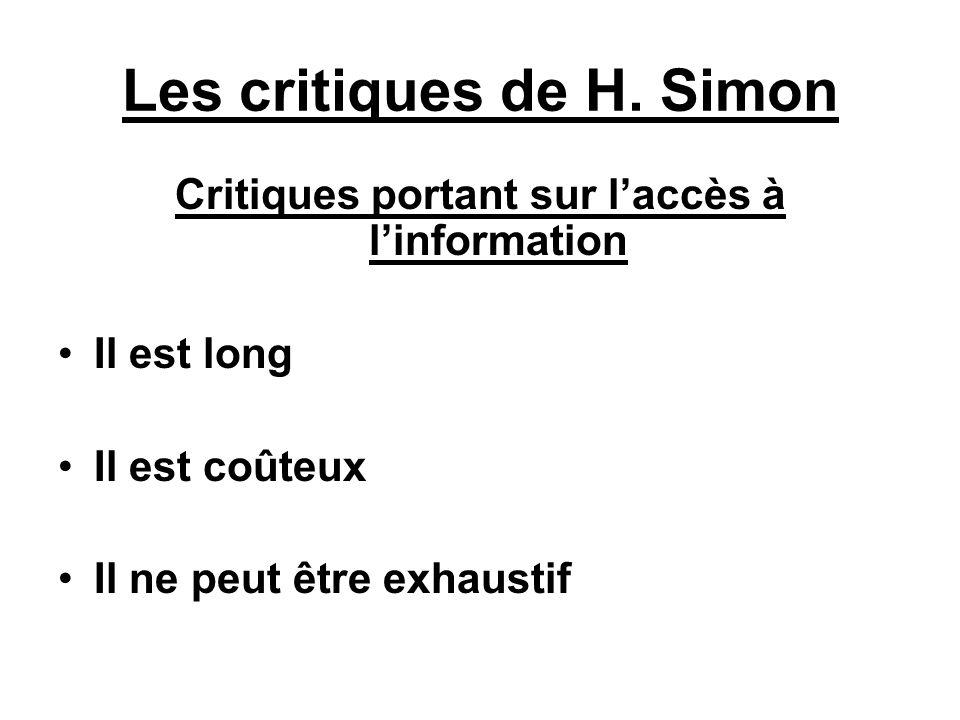 Les critiques de H. Simon