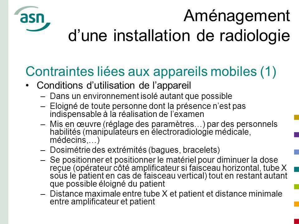 Aménagement d'une installation de radiologie