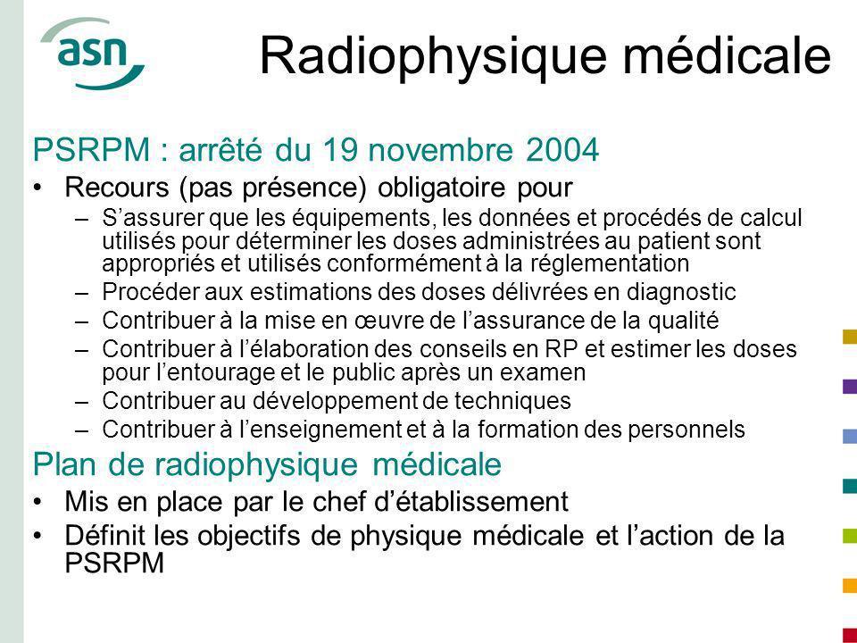 Radiophysique médicale