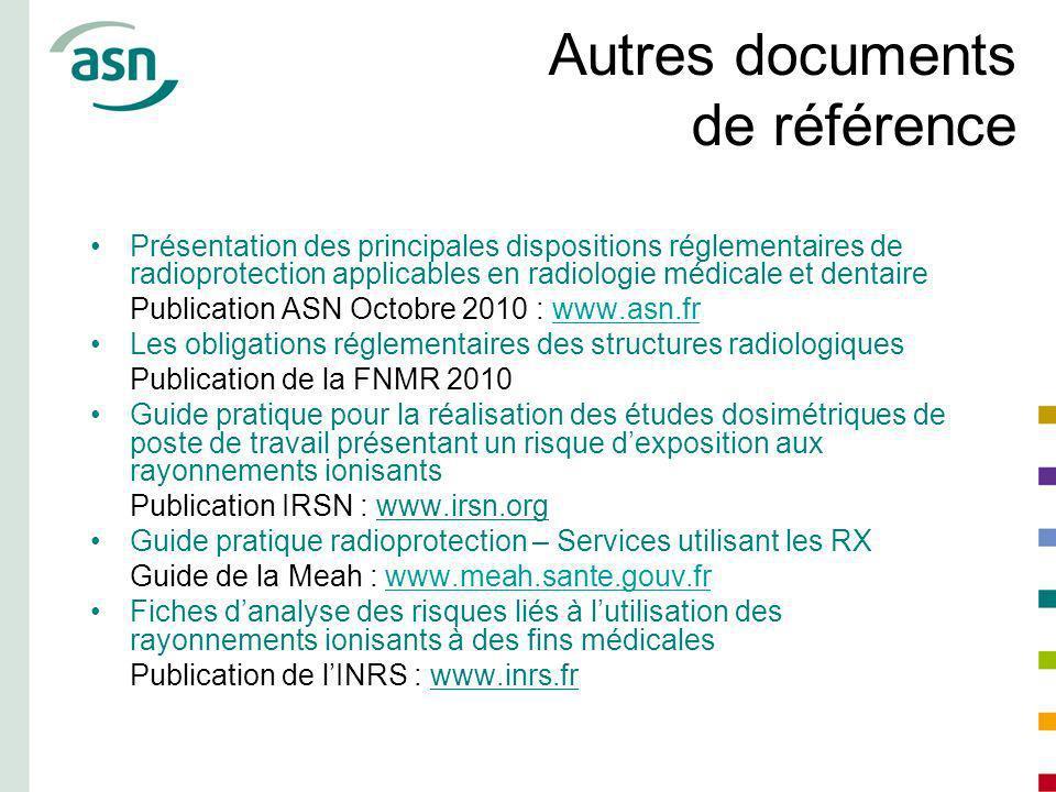 Autres documents de référence