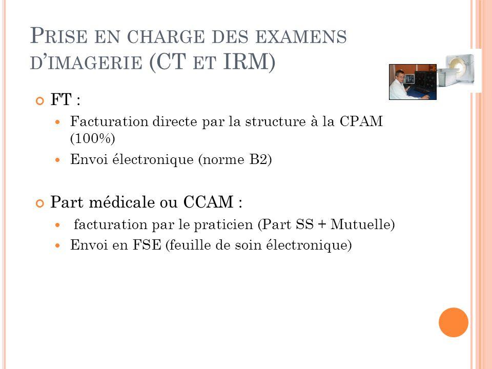 Prise en charge des examens d'imagerie (CT et IRM)
