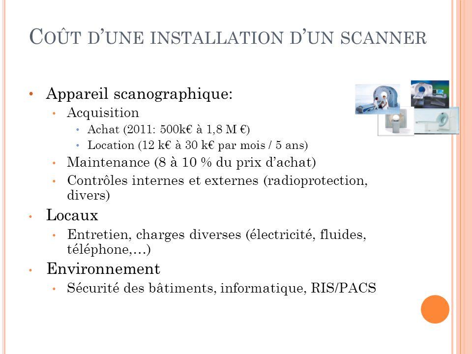 Coût d'une installation d'un scanner