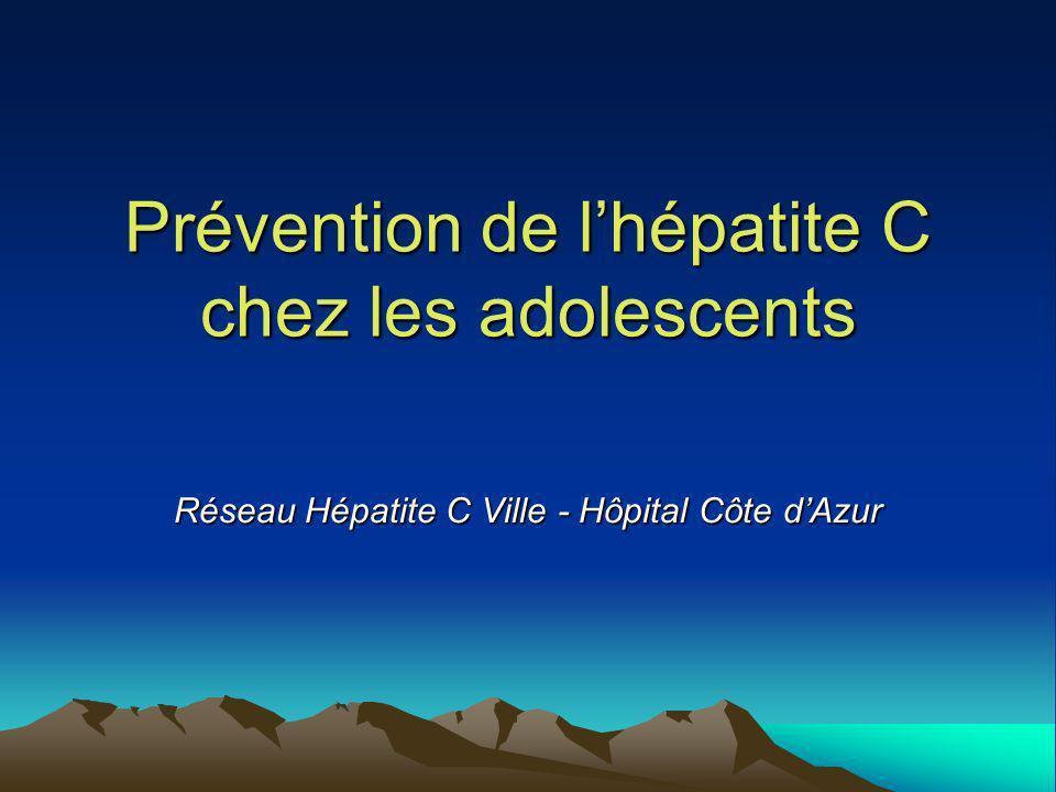 Prévention de l'hépatite C chez les adolescents