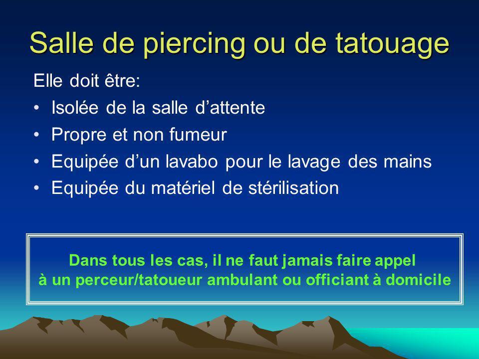 Salle de piercing ou de tatouage