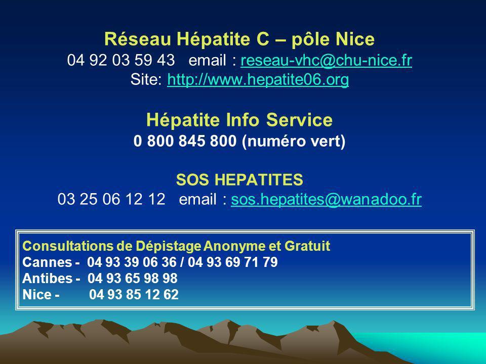 Réseau Hépatite C – pôle Nice