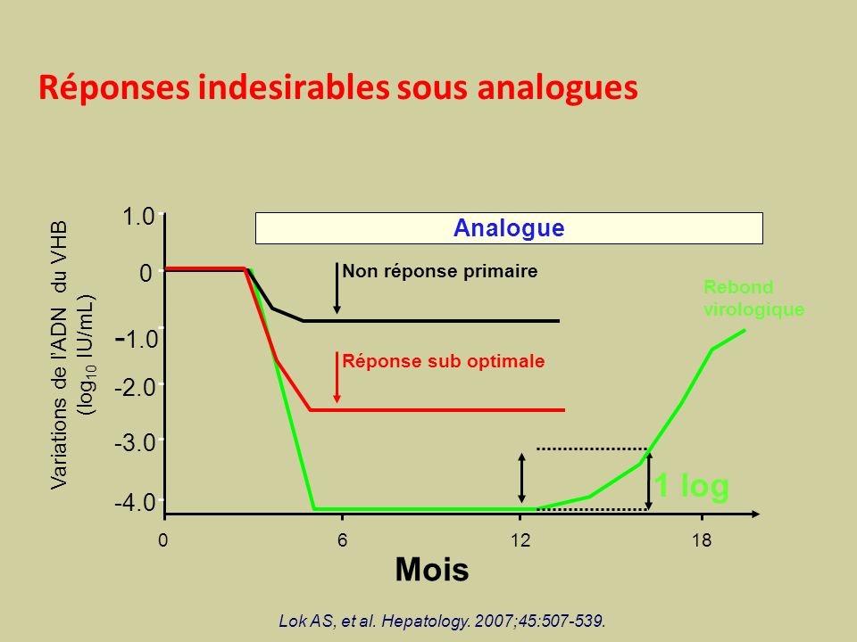 Réponses indesirables sous analogues