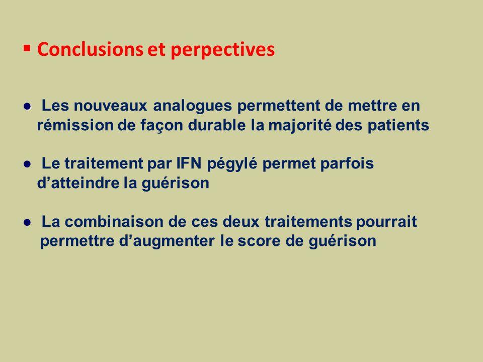 Conclusions et perpectives