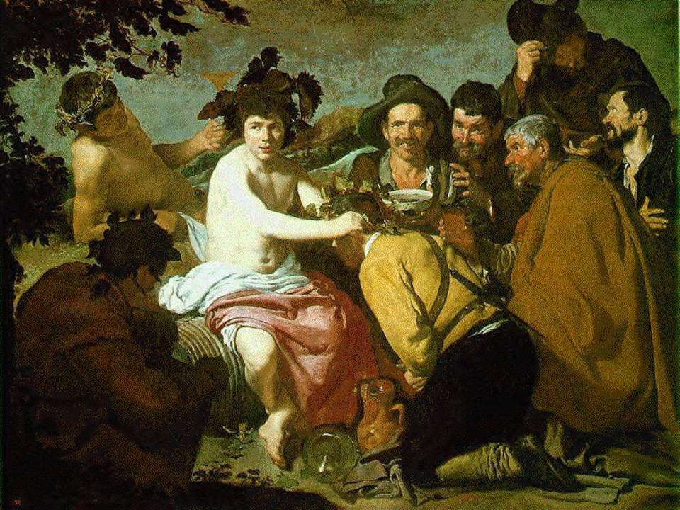Velasquez Bacchus couronnant les ivrognes « los borrachos » Madrid 1628 -29