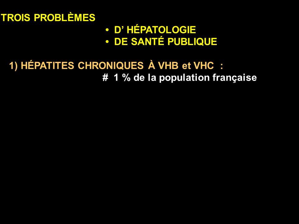 1) HÉPATITES CHRONIQUES À VHB et VHC :