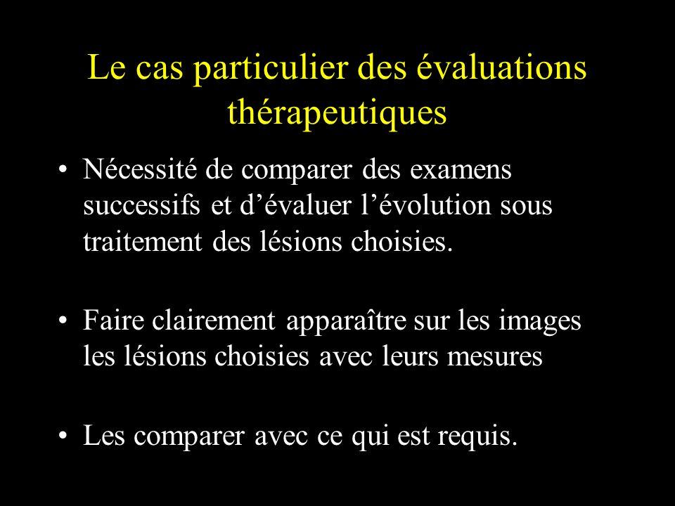 Le cas particulier des évaluations thérapeutiques