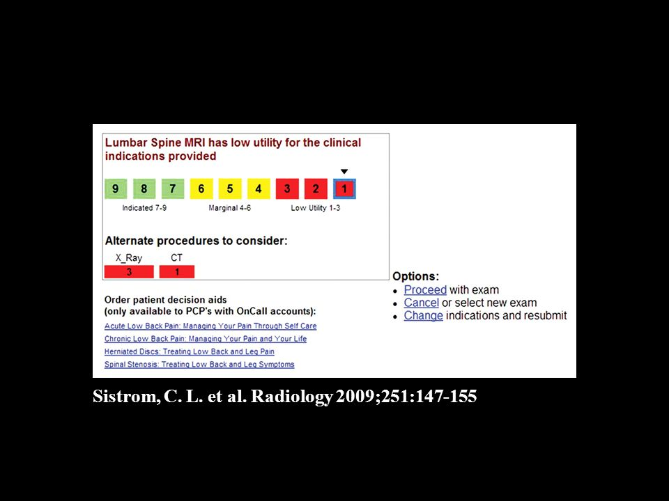 Sistrom, C. L. et al. Radiology 2009;251:147-155