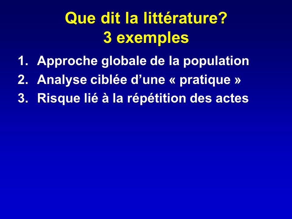 Que dit la littérature 3 exemples