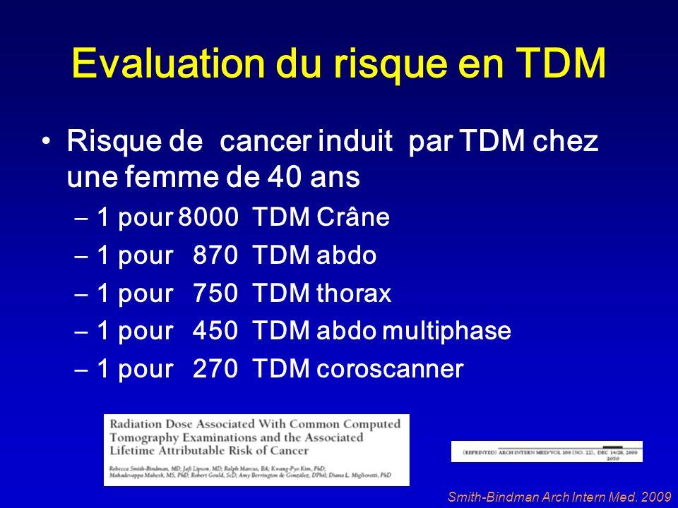 Evaluation du risque en TDM