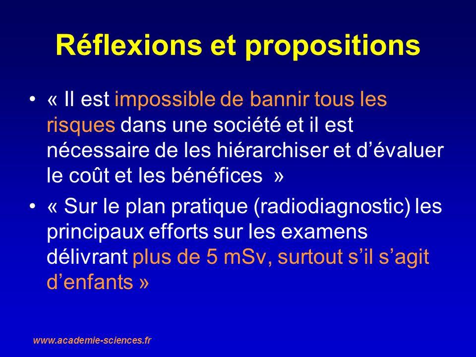 Réflexions et propositions