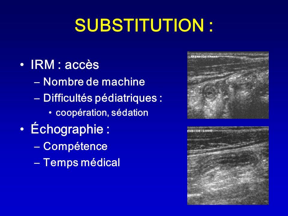 SUBSTITUTION : IRM : accès Échographie : Nombre de machine