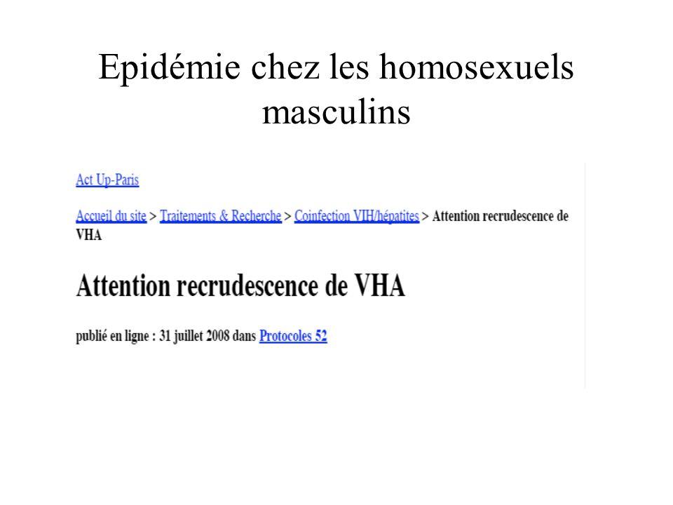 Epidémie chez les homosexuels masculins