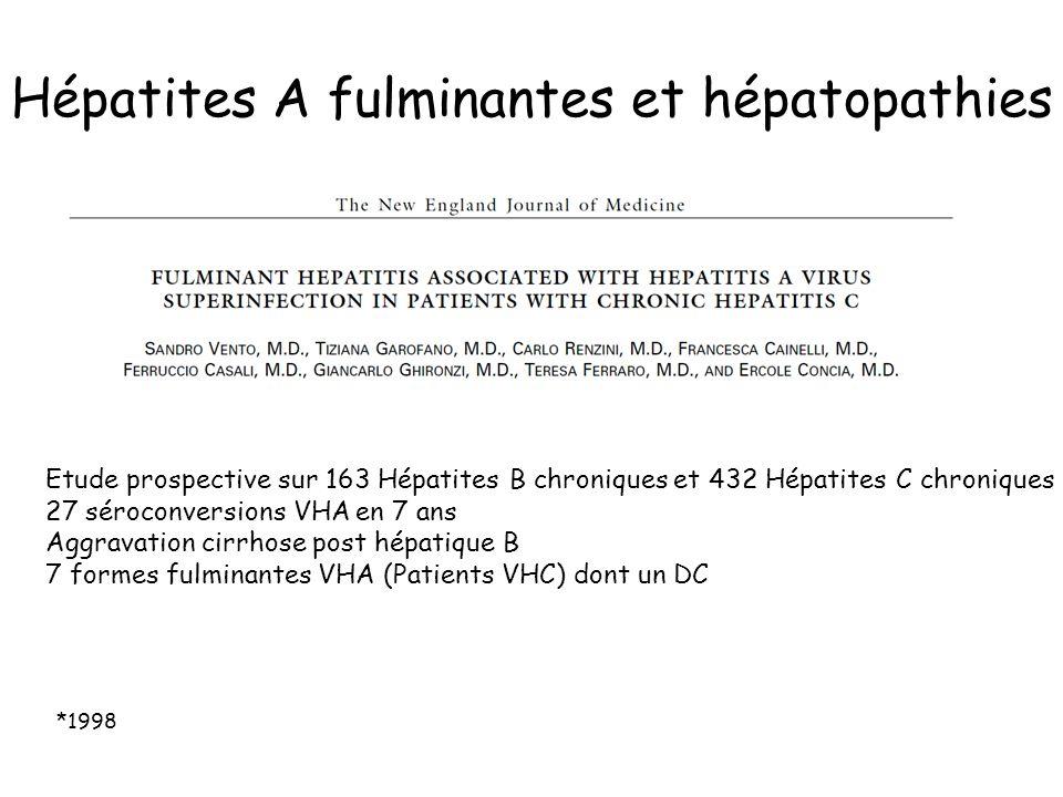 Hépatites A fulminantes et hépatopathies