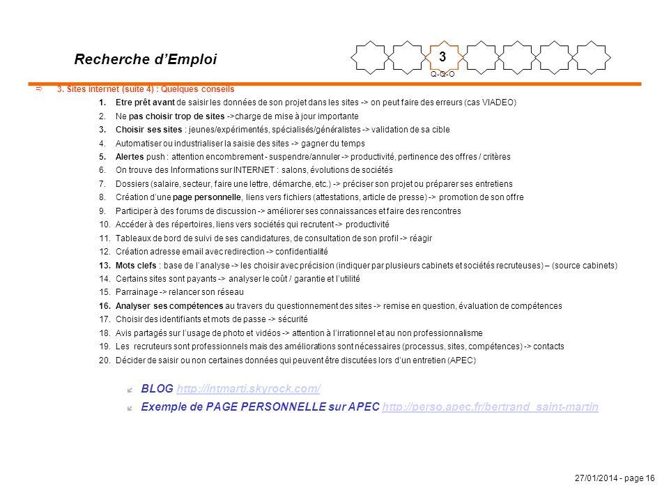 Recherche d'Emploi 3 BLOG http://intmarti.skyrock.com/